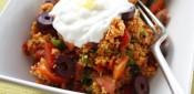 Saffron couscous salad