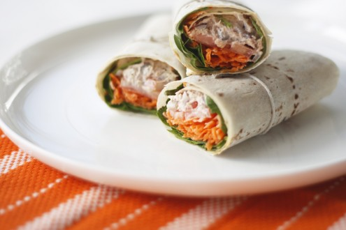 Lemon tuna wrap