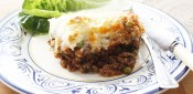 Minted lamb moussaka