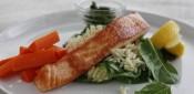 Grilled salmon w gremolata