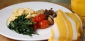 Parmesan scrambled eggs
