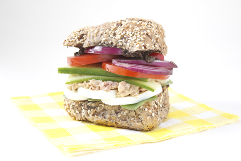Gestational Diabetes Salad Nicoise Sandwich