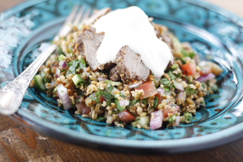 Dukkah Crusted Lamb with Freekeh Tabouleh