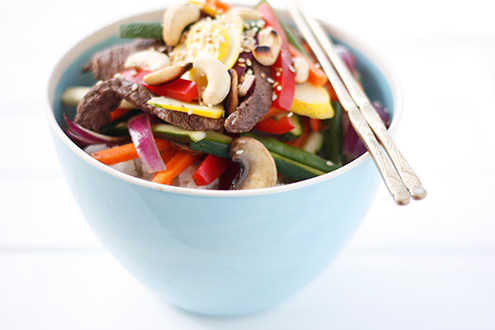 Beef Stir-Fry with Cashew Nuts for Gestational Diabetes Recipes
