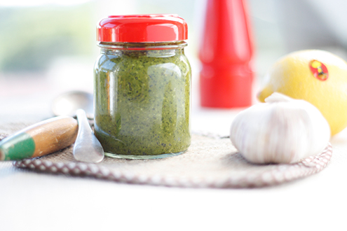 sauces, basil, pesto, tasty